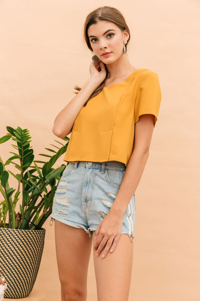 Pella Basic Structured Top in Mustard