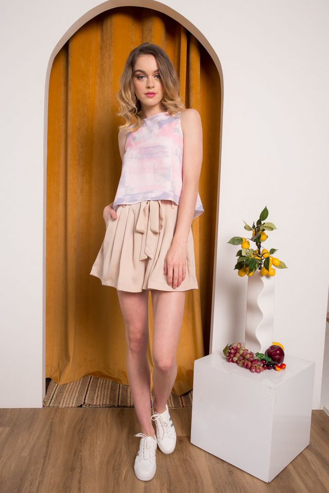 Alona Paintbrush Top in Pastel Pink