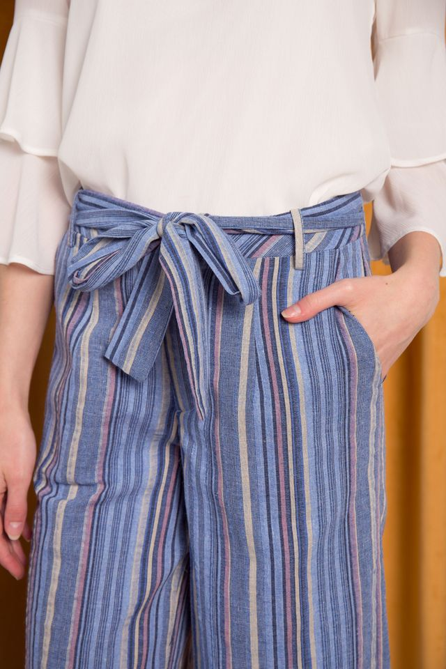 Riane Striped Culottes in Blue