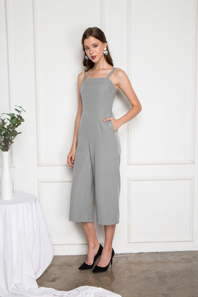 Lystan Wide Leg Jumpsuit in Grey