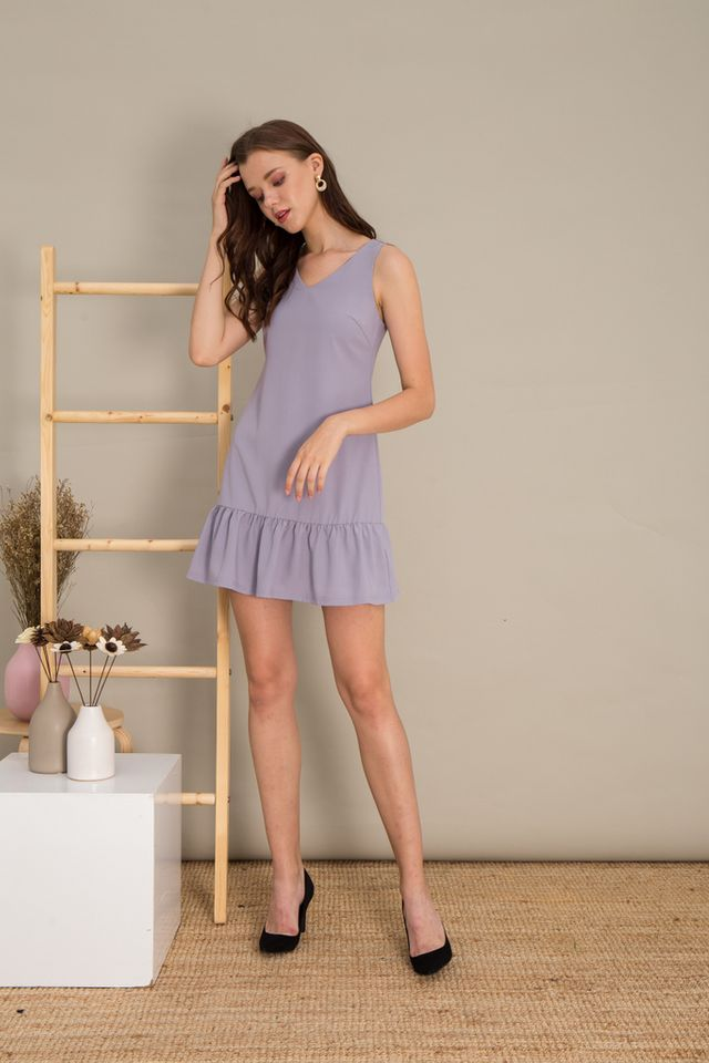 Emely Basic Dropwaist Dress in Lavender
