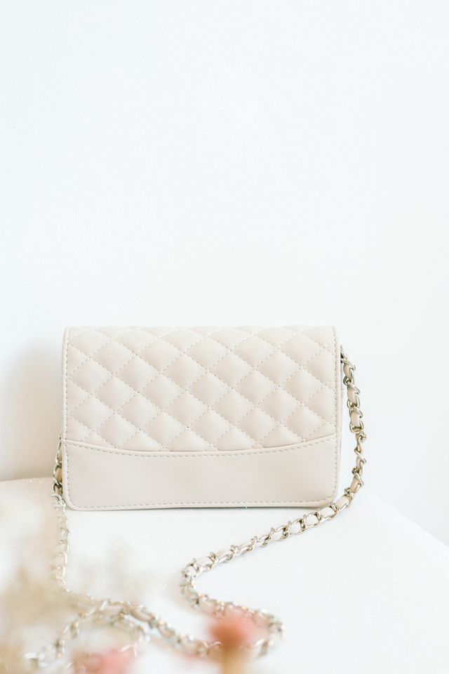 Felice Quilted Purse in Cream