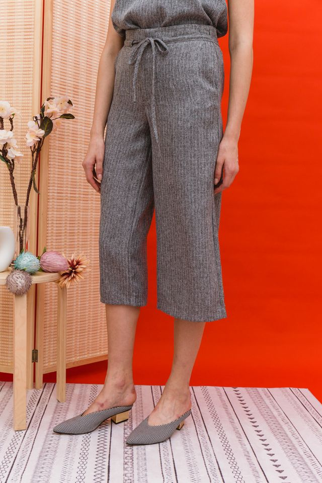Lauryn Stitched Culottes in Grey