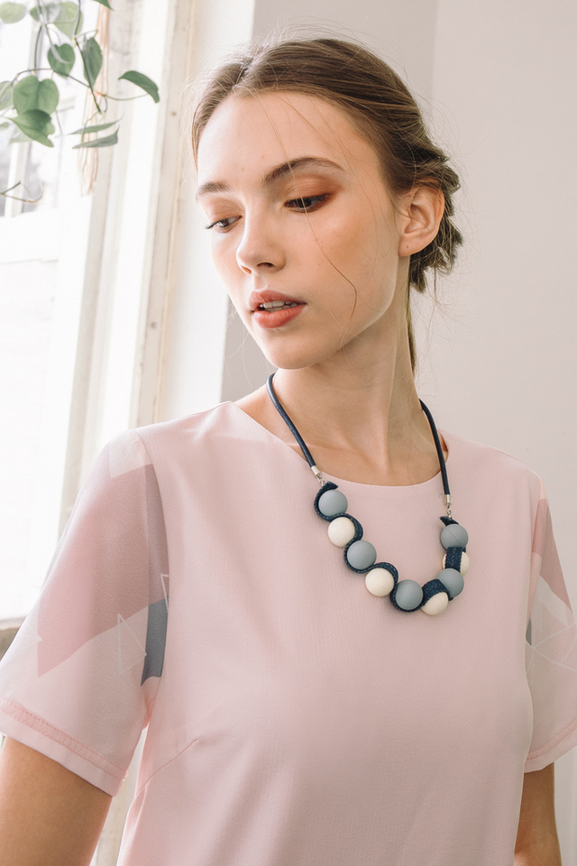 Solara Bead Necklace in Blue