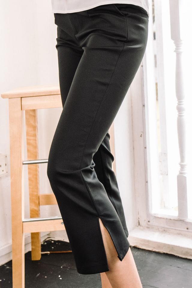 Caro High Waisted Work Pants in Black