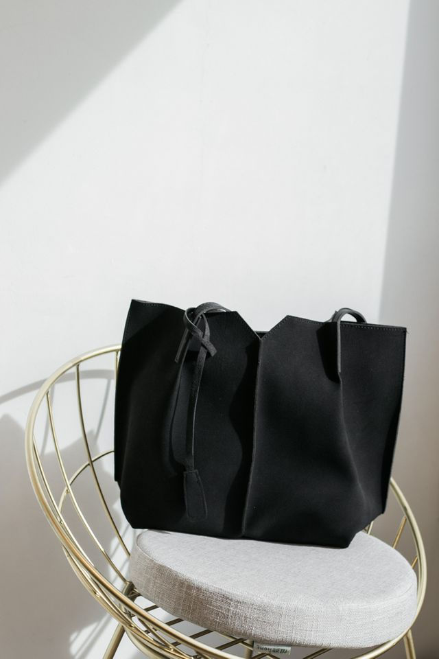 Cydney Two-tone Handbag in Black