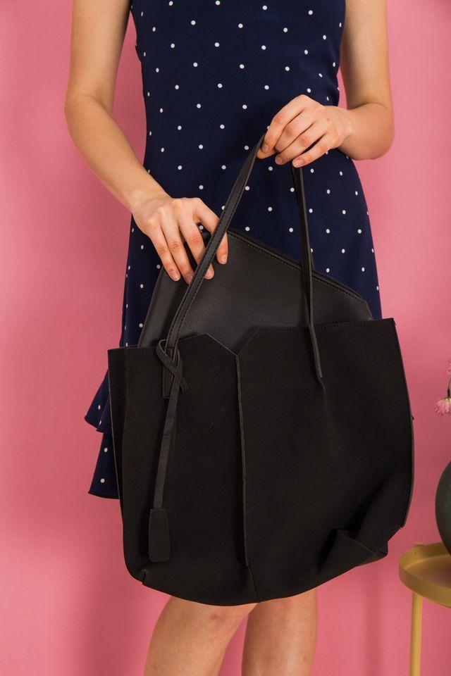 Cydney Two-tone Handbag in Black