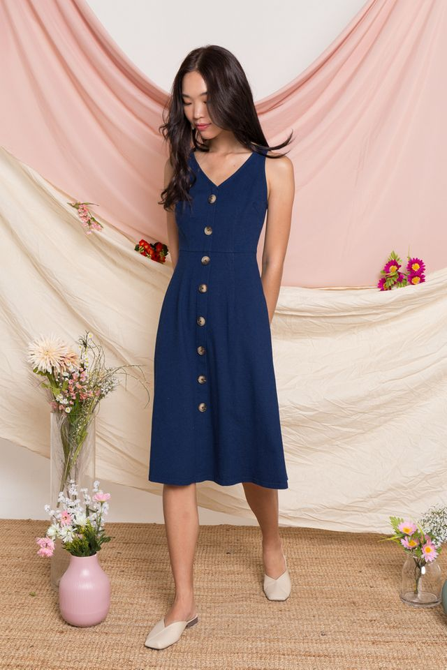 Vella Denim Midi Dress (XS)