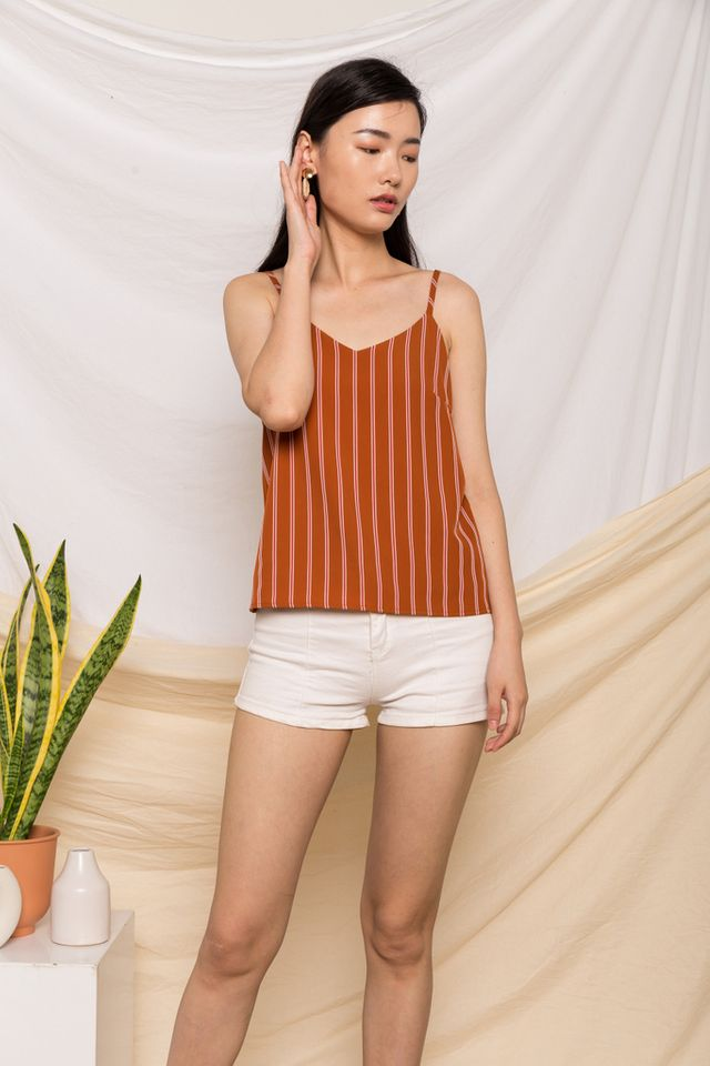 Cecile Striped Top in Caramel