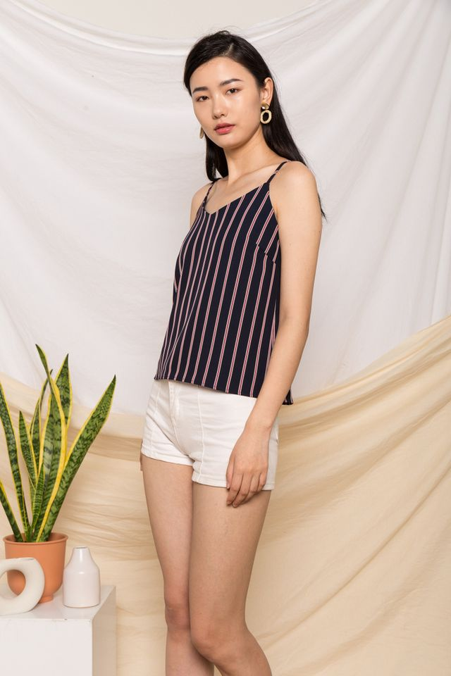 Cecile Striped Top in Navy