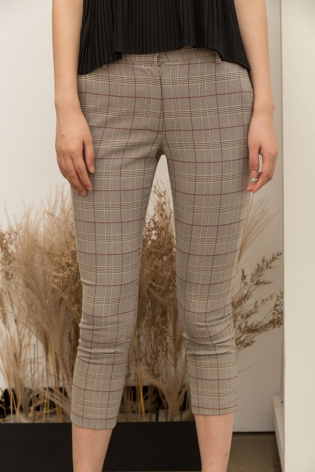 Ayden Plaid High-Waisted Trousers (XL)