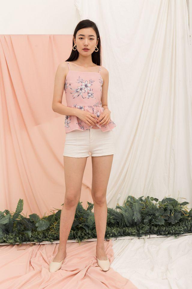 Mareisa Floral Babydoll Top in Pink