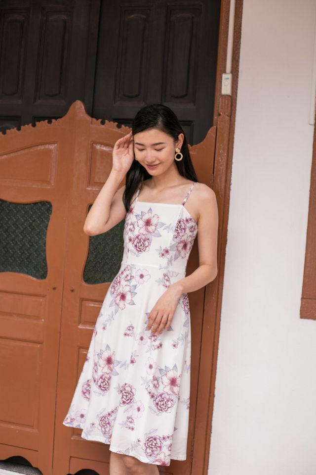 Cali Floral Flare Midi Dress (XL)