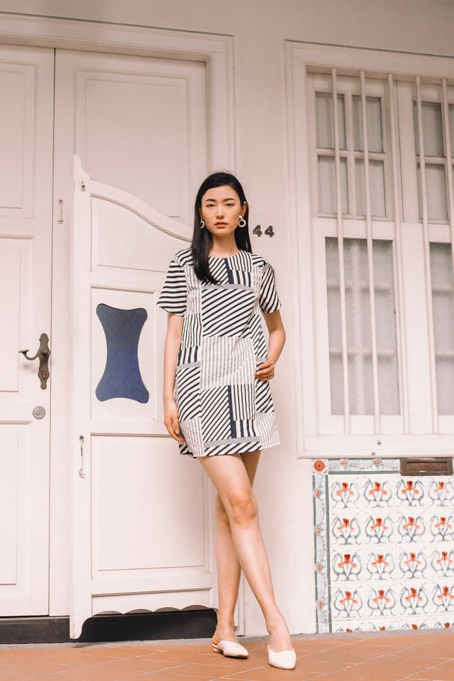 Aideen Striped Shift Dress