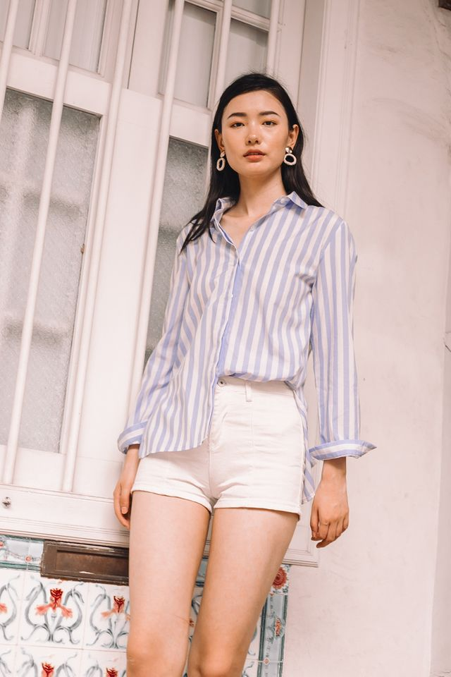 Doran Striped Collar Shirt