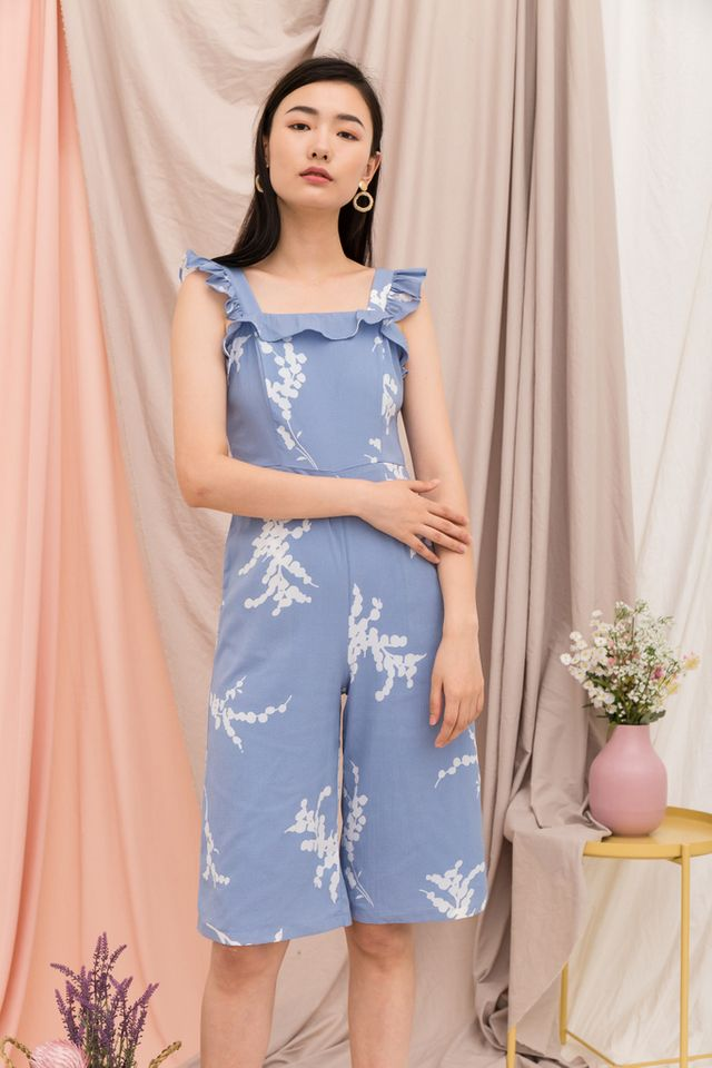Nicolet Foliage Jumpsuit in Blue