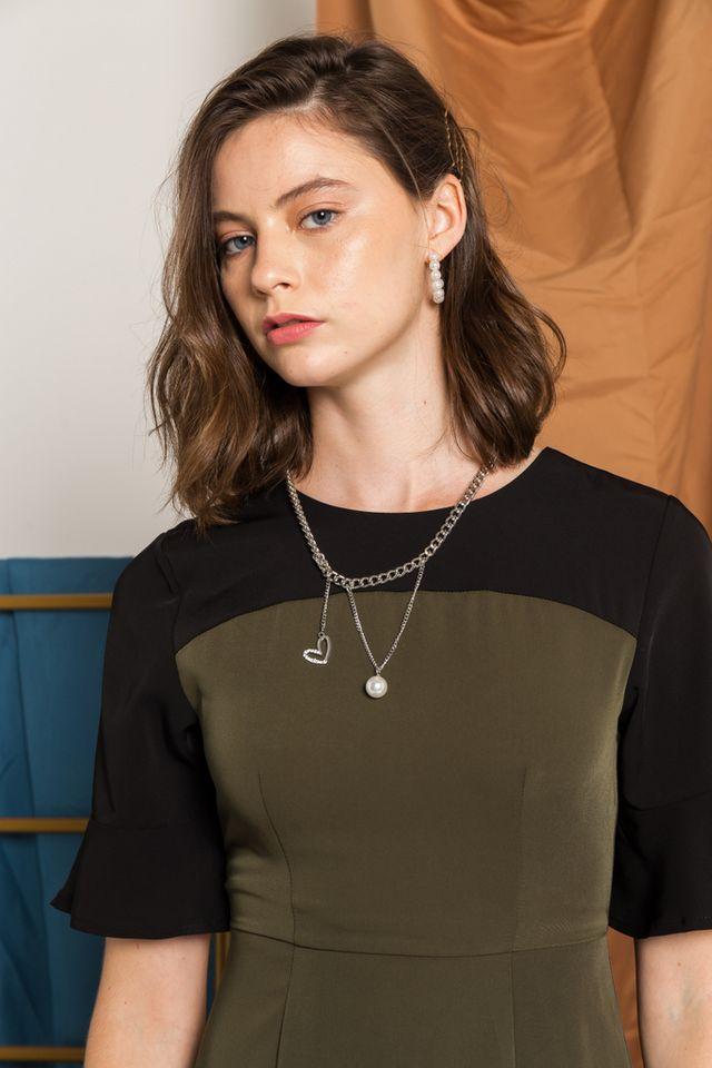 Maniya Heart & Pearl Chain Necklace