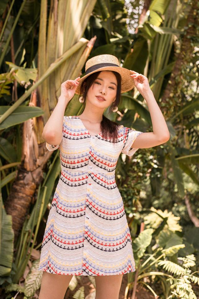 Sanna Eyelet Skater Dress
