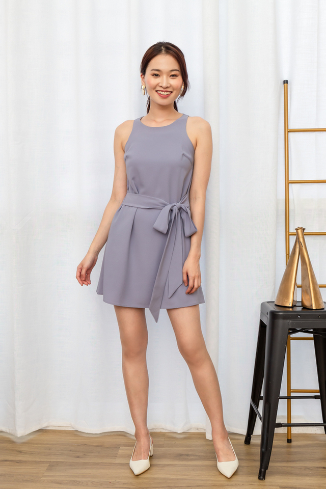 Leeann Ribbon Trapeze Dress in Lavender