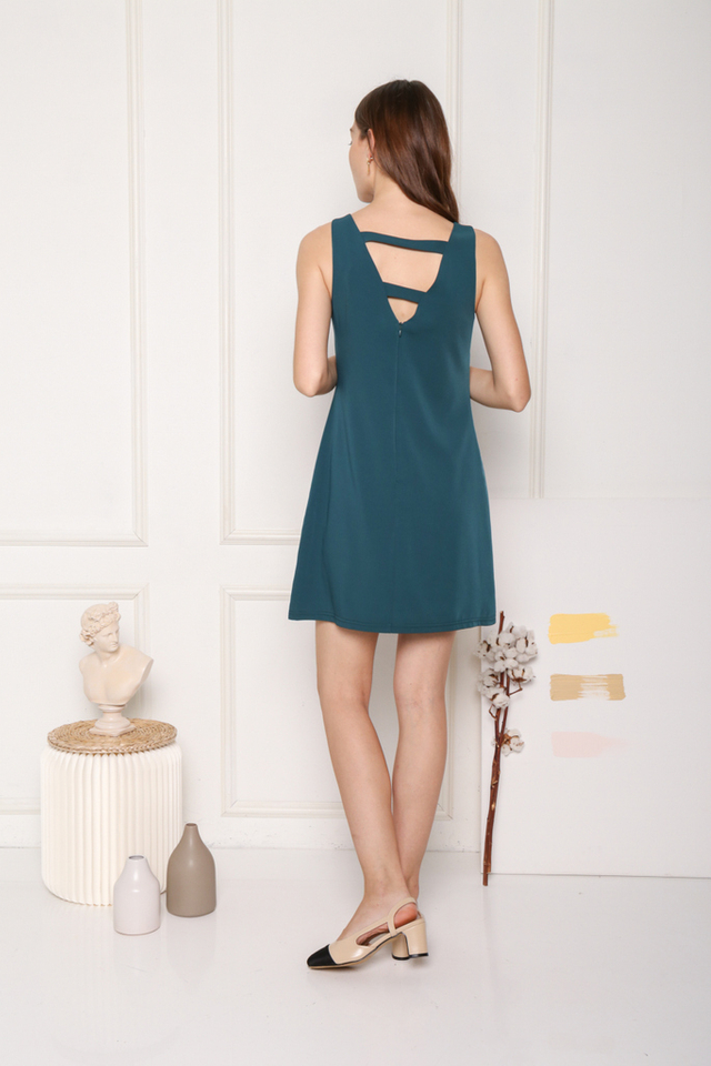 Avielle Double Straps Dress in Teal