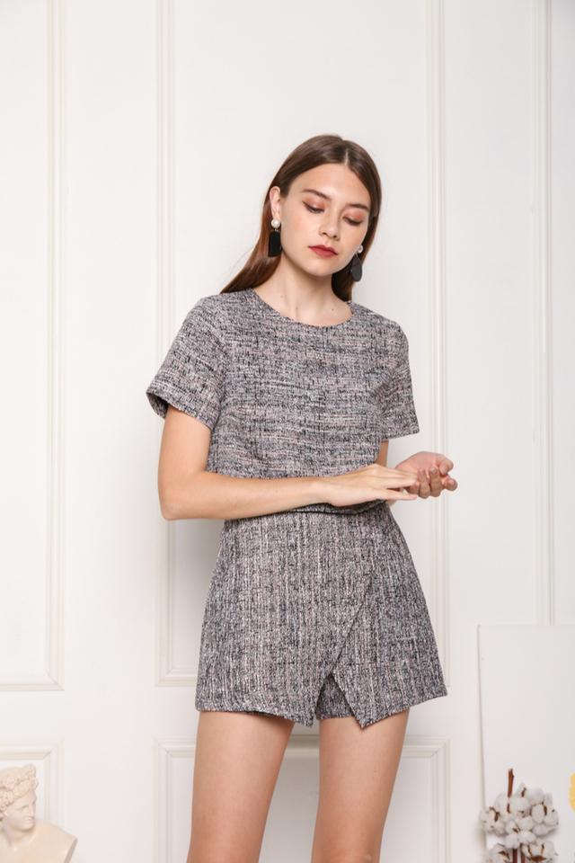 Danelle Premium Tweed Skorts in Black