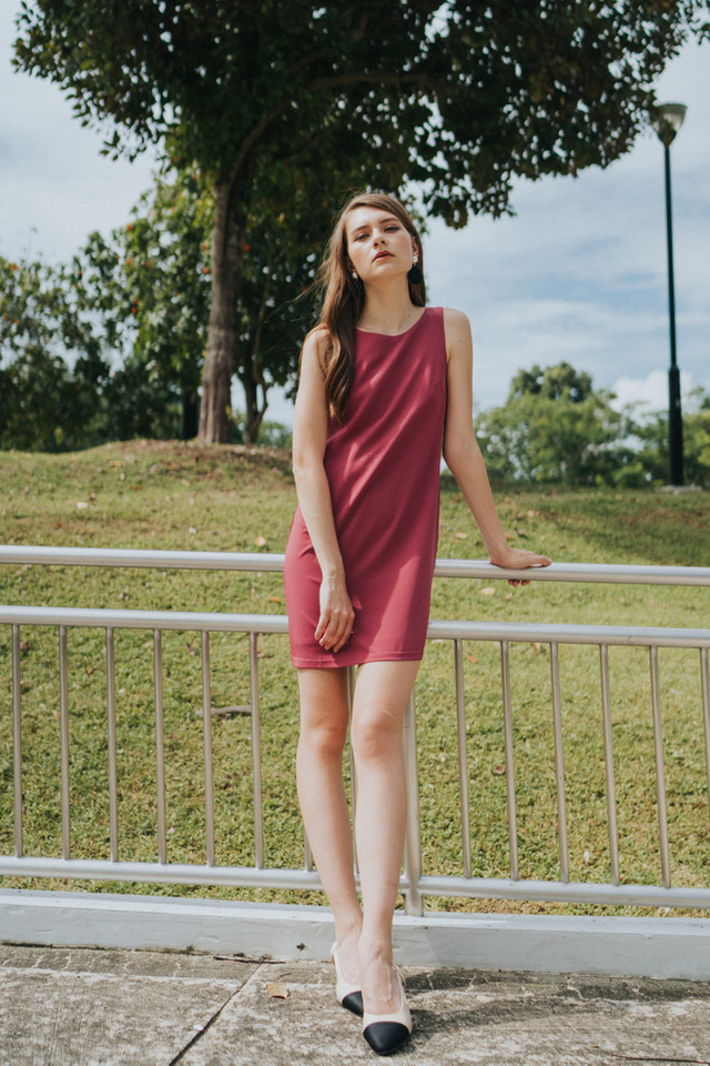 Avielle Double Straps Dress in Rose
