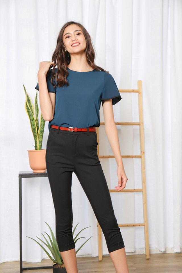 Ula High-Waisted Pants in Black