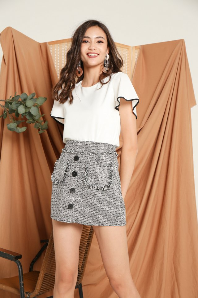 Abby Tweed Pocket Skirt