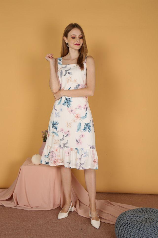Natsumi Floral Dropwaist Midi Dress