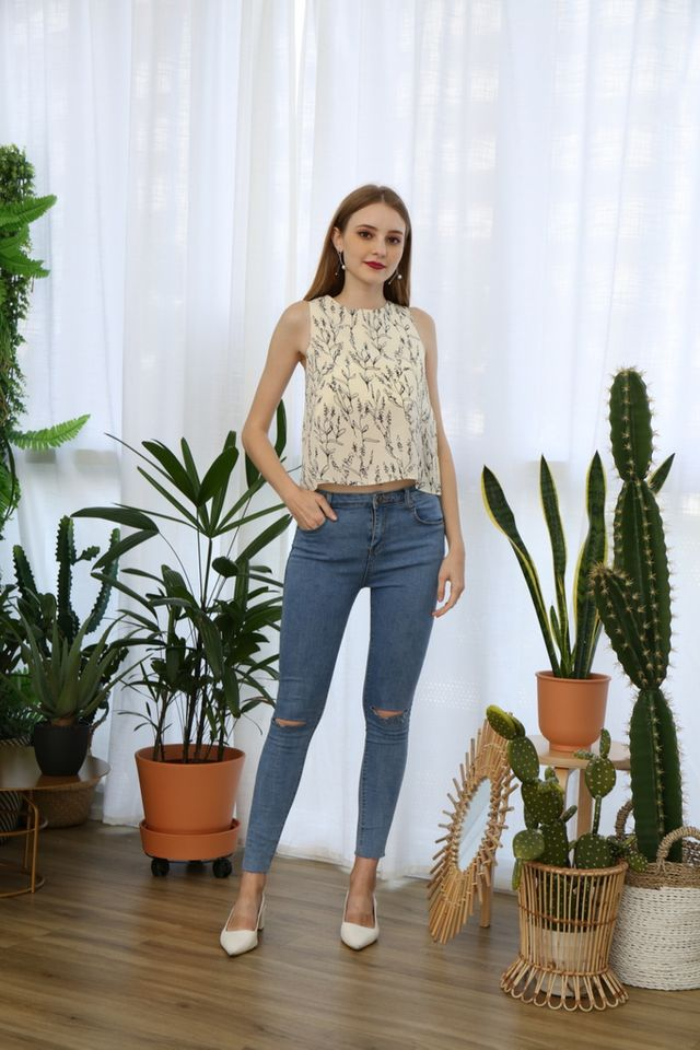 Taiga Botanical Top in Cream