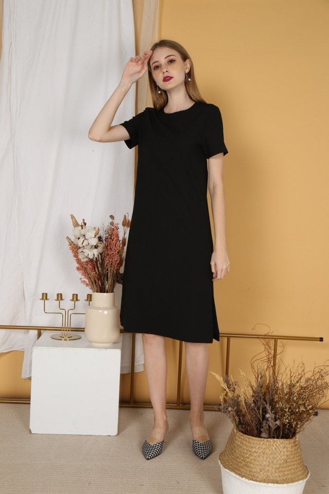 Kirsty Classic Shift Dress in Black
