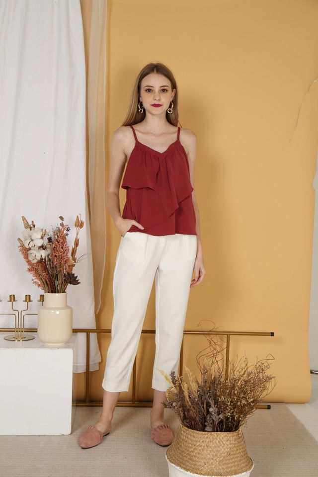 Lynda Work Pants in White
