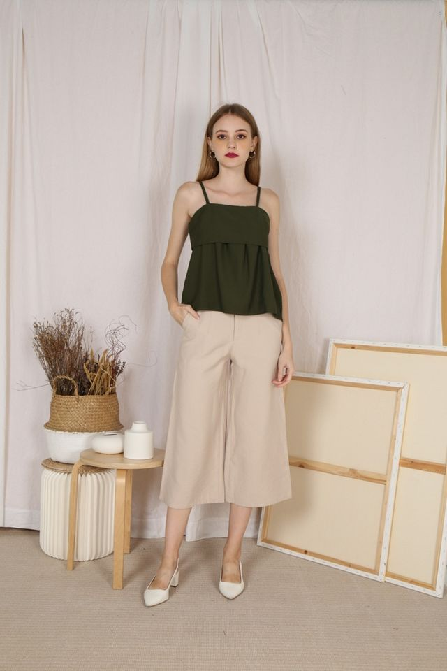 Livia Wide Legged Culottes in Sand (XL)