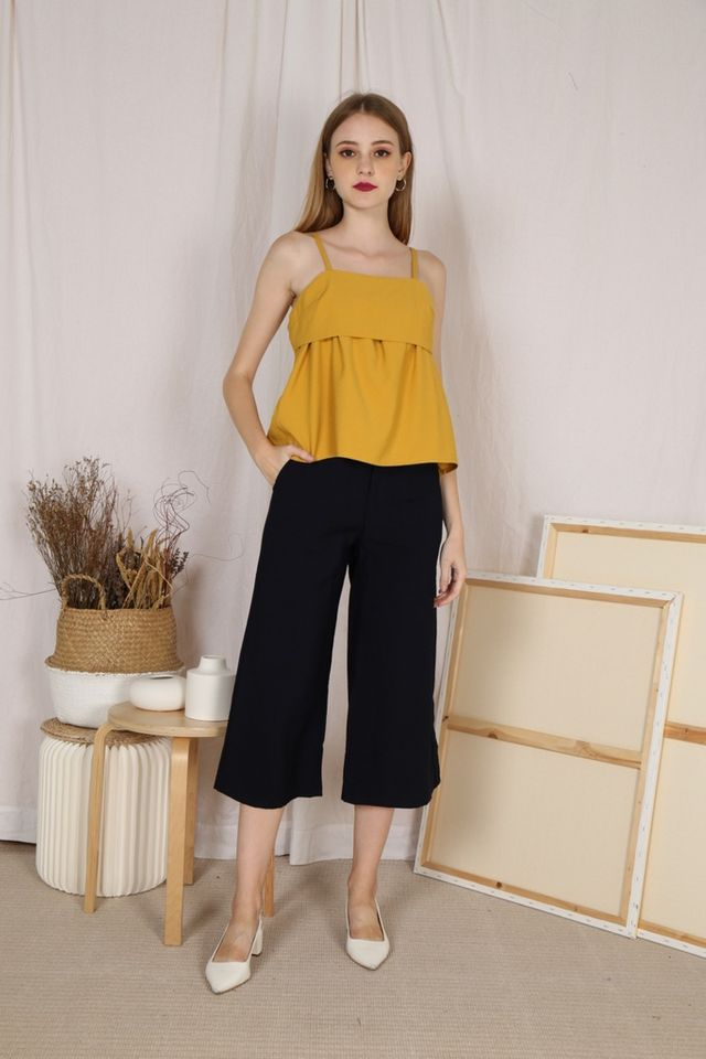 Livia Wide Legged Culottes in Navy (XS)