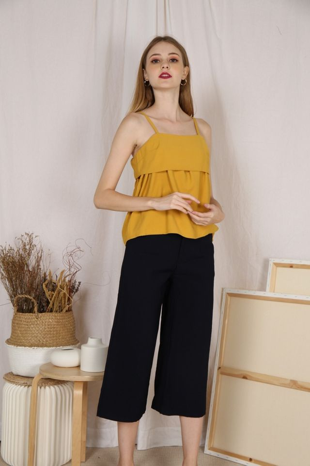Livia Wide Legged Culottes in Navy