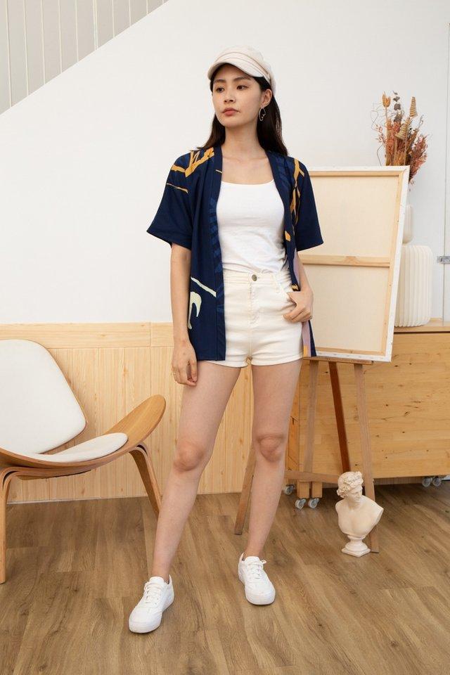 Roxie Abstract Kimono in Navy
