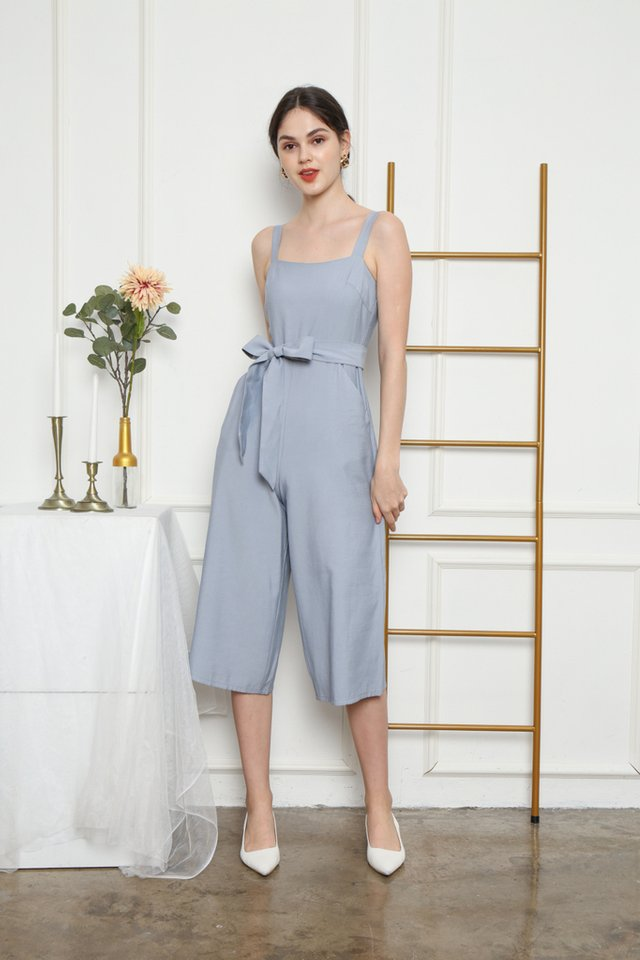 Kaylin Pocket Jumpsuit in Blue
