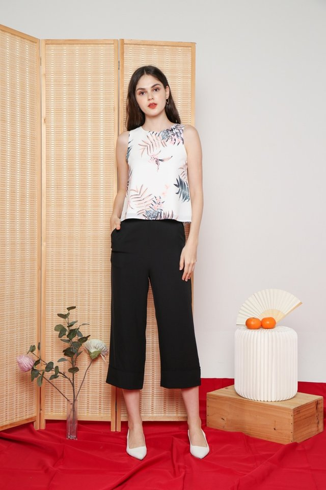 Rowena Floral Top in White