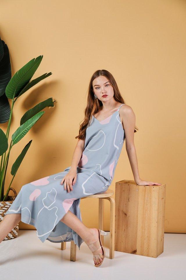 Nalani Abstract Maxi Dress in Mint