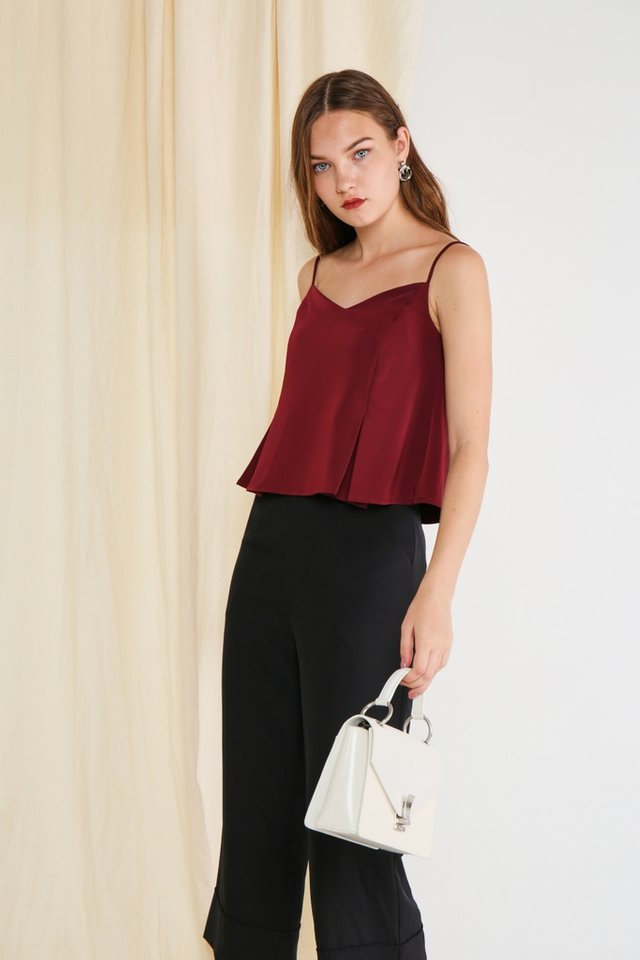 Arabella Camisole Top in Wine