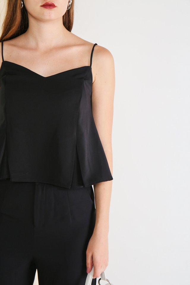Arabella Camisole Top in Black