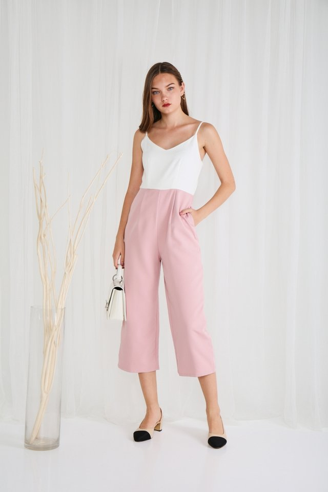 Zarya Colourblock Jumpsuit in Pink