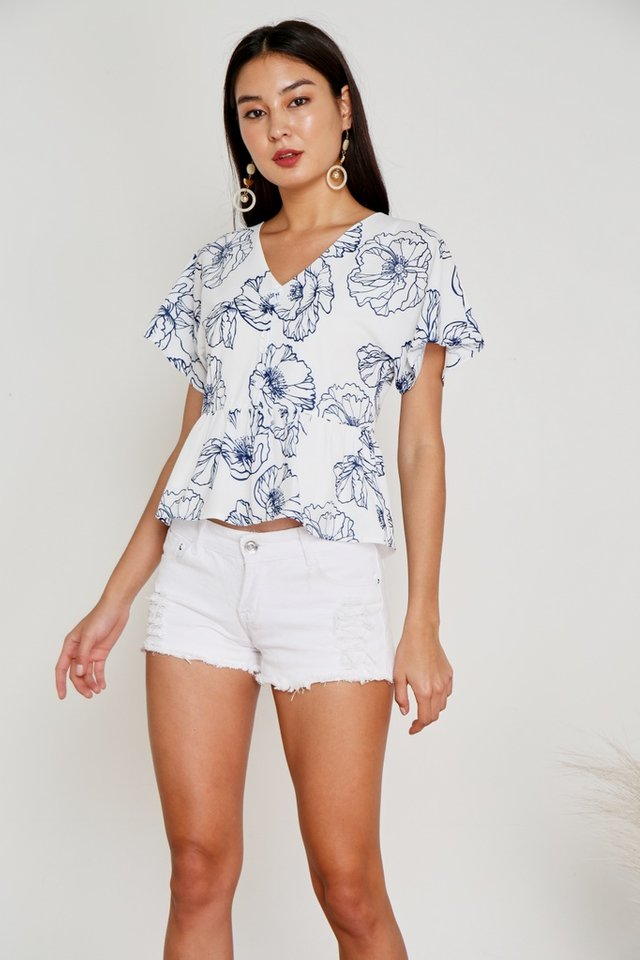 Holly Floral Button Babydoll Top