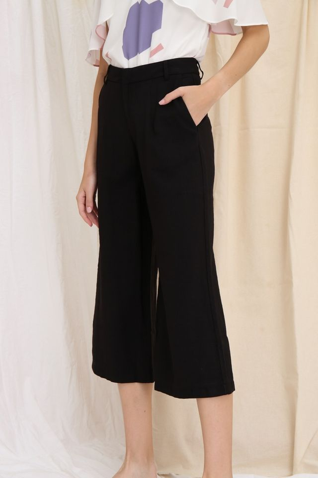 *PREORDER* Dalinda Wide Leg Culottes in Black