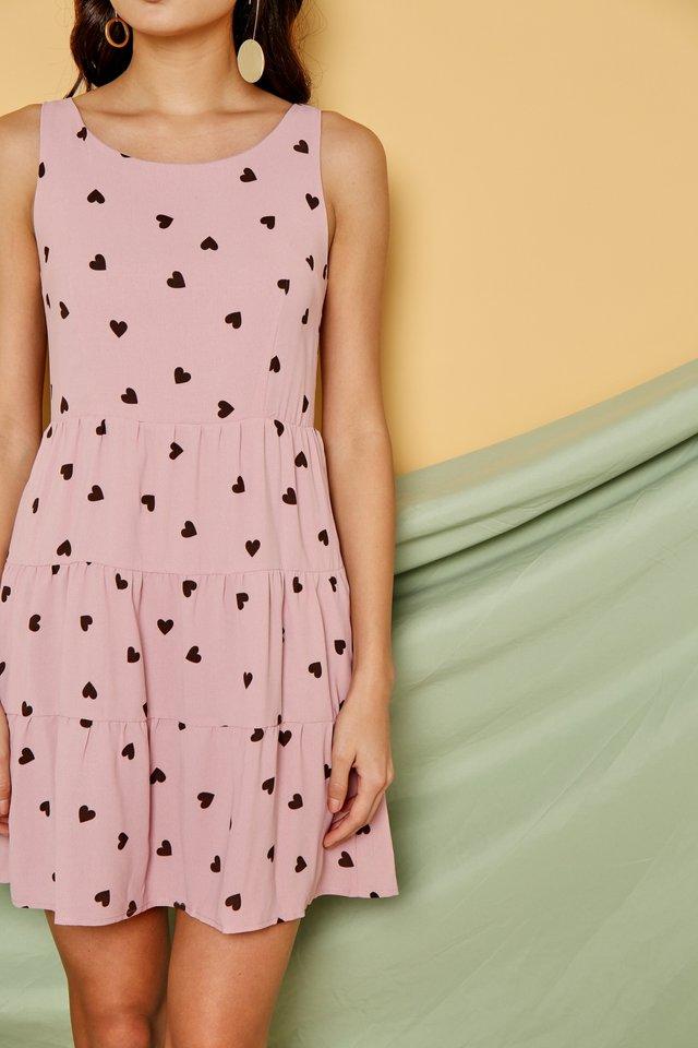 Alina Heartshaped Babydoll Dress in Pink
