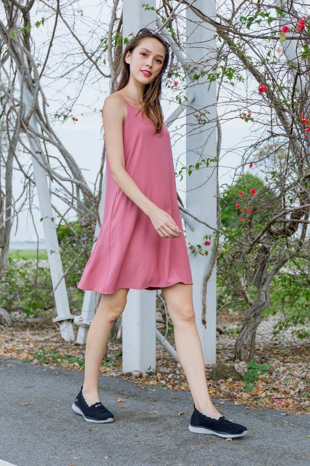 Bernadette Camisole Dress in Rose