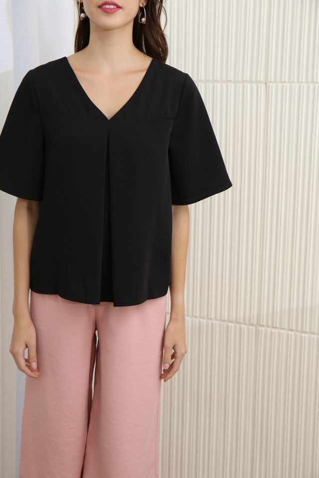 Valencia Two Way Top in Black
