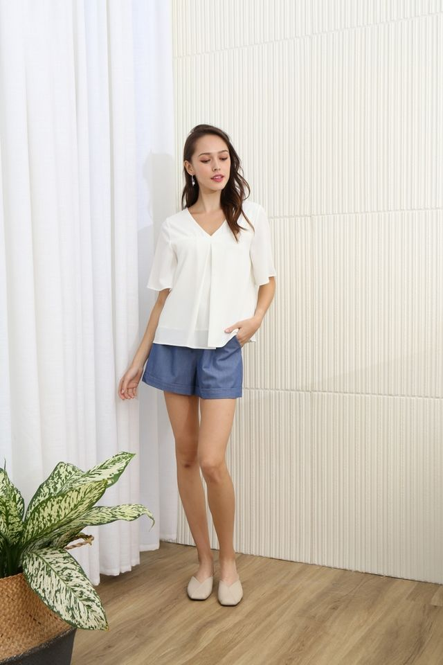 Valencia Two Way Top in White