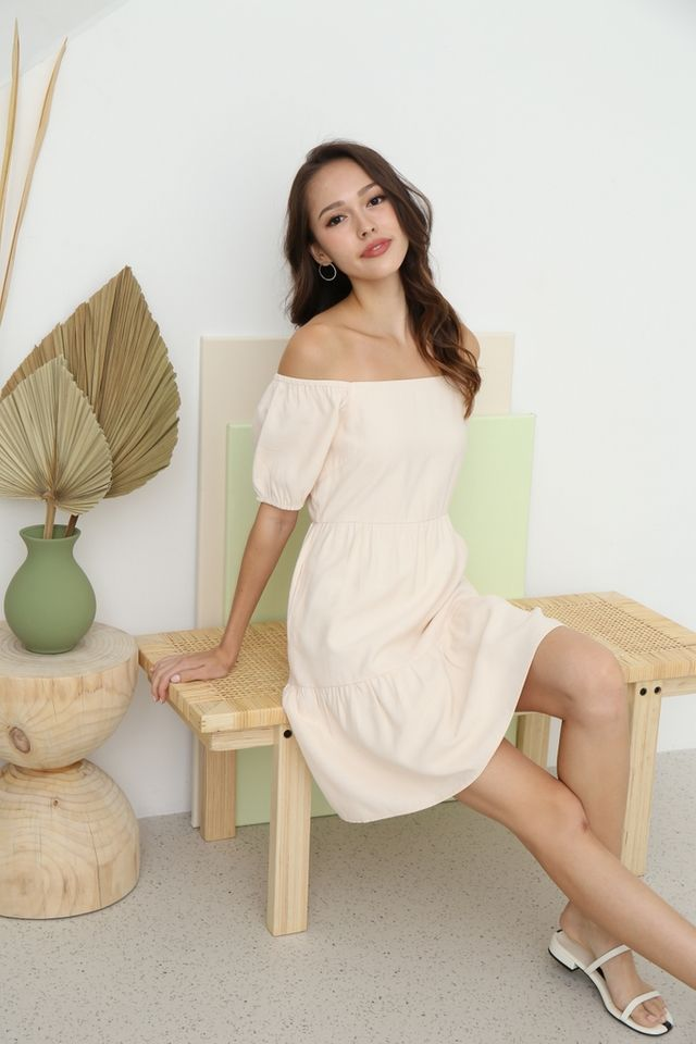 Scarlette 2-Way Babydoll Dress in Sand
