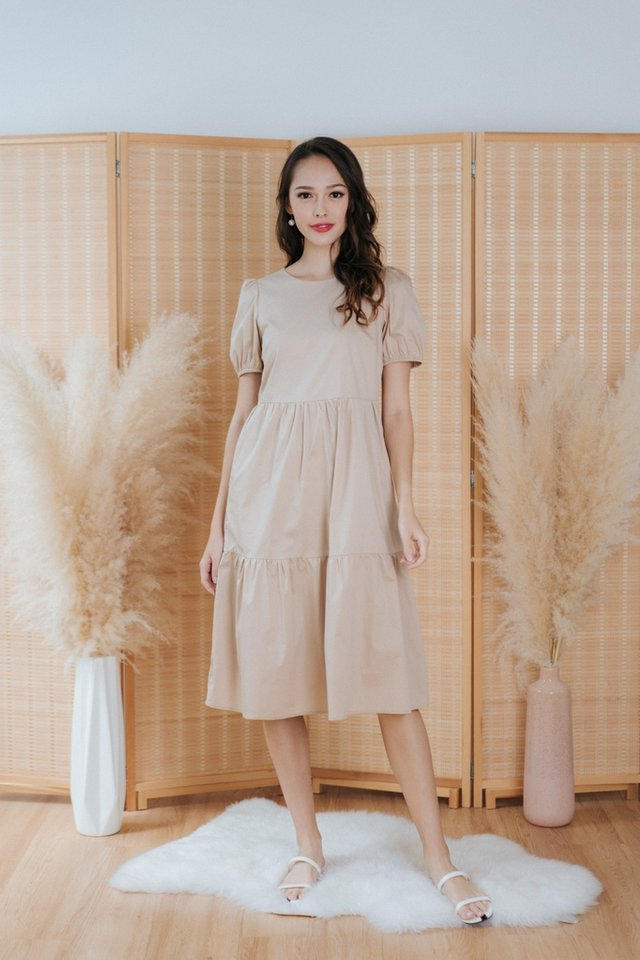 *BACKORDER* Vita Babydoll Midi Dress in Cream